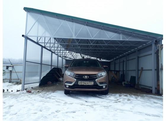 Навесы для машин односкатные с профнастилом в Солнечногорске